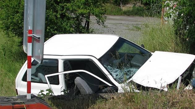 Nehoda na silnici I/47 poblíž vyškovského dinoparku.