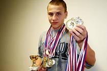 Patnáctiletý judista se svému milovanému sportu věnuje už sedm let. Posbíral řadu medailí, i těch mezinárodních.