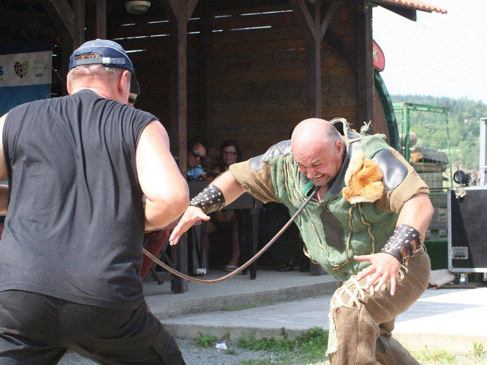 Tradiční akce s názvem Olšany open na Farmě Bolka Polívky (na snímku Zdeněk Knedla alias Železný Zekon) se letos nesla ve znamení veřejného natáčení filmu Hon. Bohatý program vyvrcholil jeho premiérou.