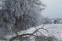Silná ledovka v Rousínově - 8. 2. 2021.