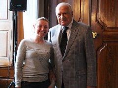Bývalý prezident České republiky Václav Klaus ve středu diskutoval s obyvateli Slavkova u Brna.