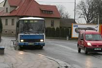 Ulice Svatopluka Čecha ve Vyškově.