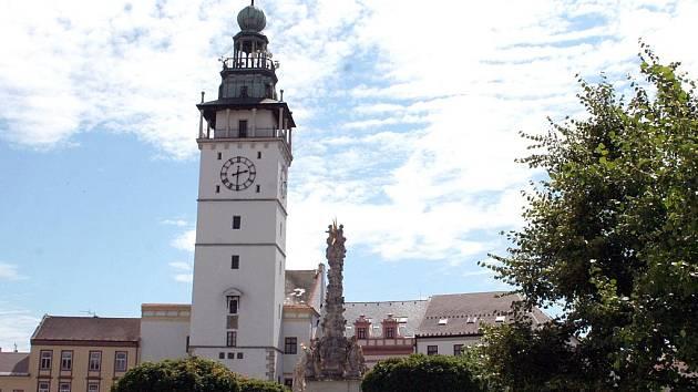 Radniční věž ve Vyškově - ilustrační fotografie.