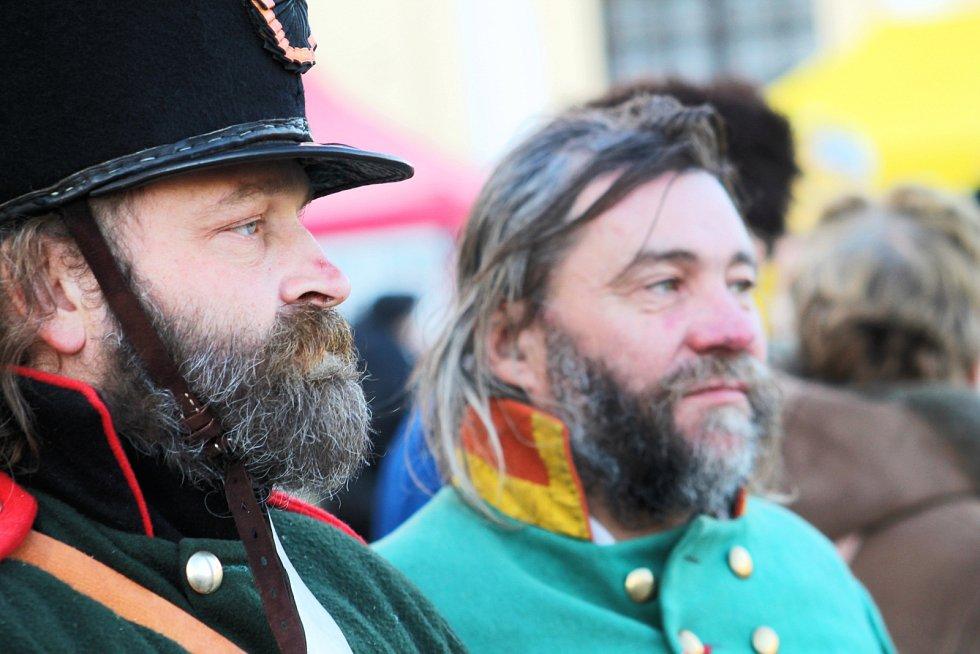 Slavkovští znovu připomněli rok 1805, kdy francouzské jednotky pod vedením císaře Napoleona porazily tehdejší kontinentální velmoci Rakousko a Rusko.