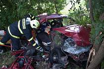 U Holubic se srazila dvě auta.