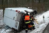 Osobní auto s dodávkou se v úterý odpoledne srazilo u Heršpic.