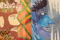 Výtvarný obor z ivanovické základní umělecké školy vystavuje v kině Sokolský dům ve Vyškově. Díla budou k vidění do 31. ledna, vždy před promítáním.