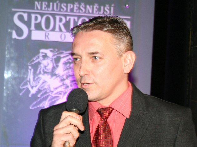 Luboš Stloukal, vedoucí družstva mužů atletického klubu AHA Vyškov.