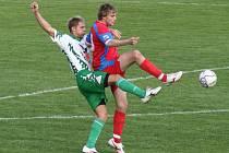 Oba divizní celky z Vyškovska, které byly zařazeny i do Tip ligy, jen remízovaly. V Rájci nepadl gól, nevsítil jej ani střelec Martin Lička (na snímku vpravo).