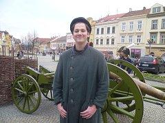 Student Stanislav Bečvář se jako měšťan vzpomínkové události Vyškov v roce 1805 letos zúčastnil již potřetí.