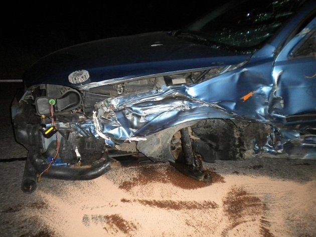 Havárie dvou kamionů a osobního auta na silnici I/50 v Bučovicích nepřesáhla stotisícovou škodu.