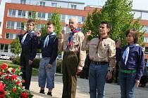 Před památníkem v Brněnské ulici naproti policejní budově si nejen vedení Vyškova každoročně připomíná výročí osvobození města.