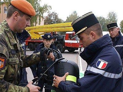 Z nedávné návštěvy francouzských vojáků-záchranářů 155. záchranného praporu Bučovice.