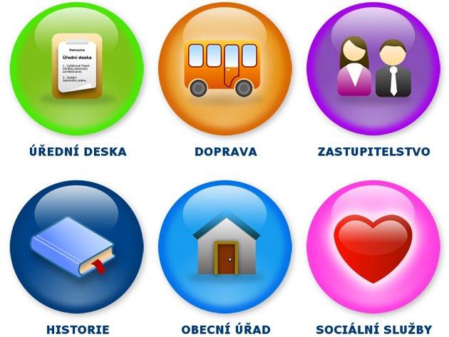 Verze internetových stránek Bošovic pro seniory.