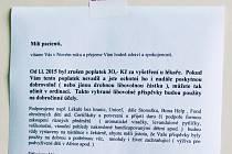 Pacientku z Bučovic pohoršilo chování tamní lékařky, která po zrušení třicetikorunového poplatku žádá o sponzorské dary. Je to dobrovolné, hájí se soukromá internistka.