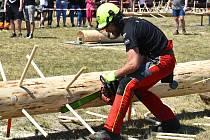 Lákavé pro diváky i samotné soutěžící. Takové byly sobotní závody dřevorubců, takzvaná Ruprechtovská pilka.
