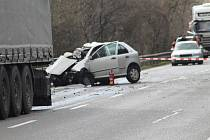 Mezi Nesovicemi a Nevojicemi se stala tragická dopravní nehoda.