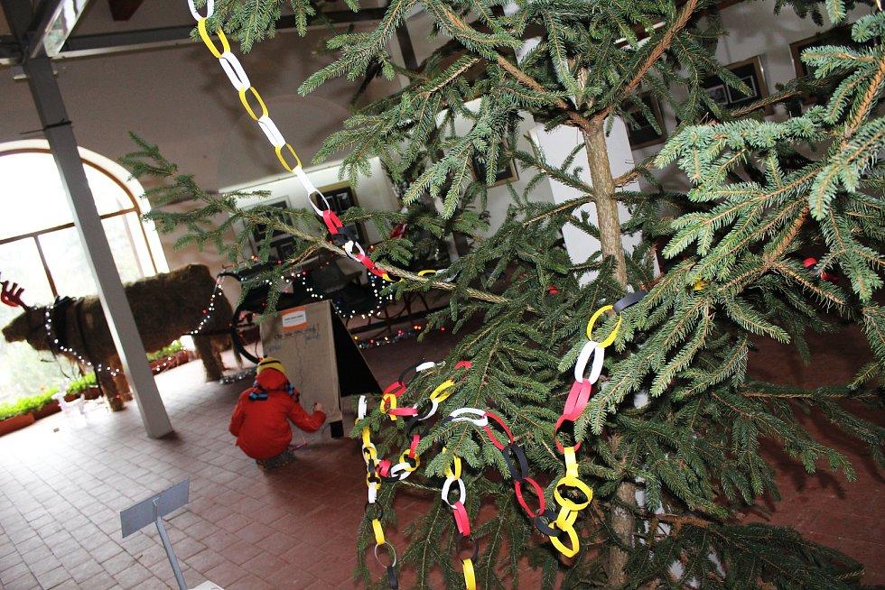 Vyškovský zoopark potřetí láká na program Sváteční zoo. Děti můžou například pomoci s výzdobou v Hanáckém statku.