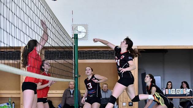 Volejbalové juniorky Vyškova porazily v extraligové kvalifikaci béčko TJ Ostrava dvakrát 3:0.
