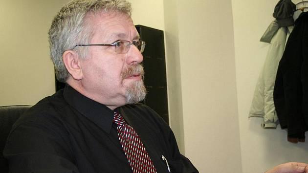Starosta Petr Hájek v redakci Vyškovského deníku