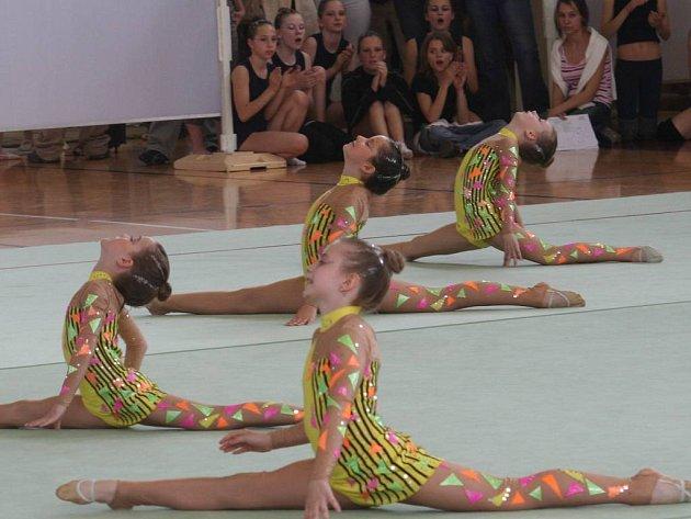 Mistrovství republiky v estetické skupinové gymnastice ve Vyškově.