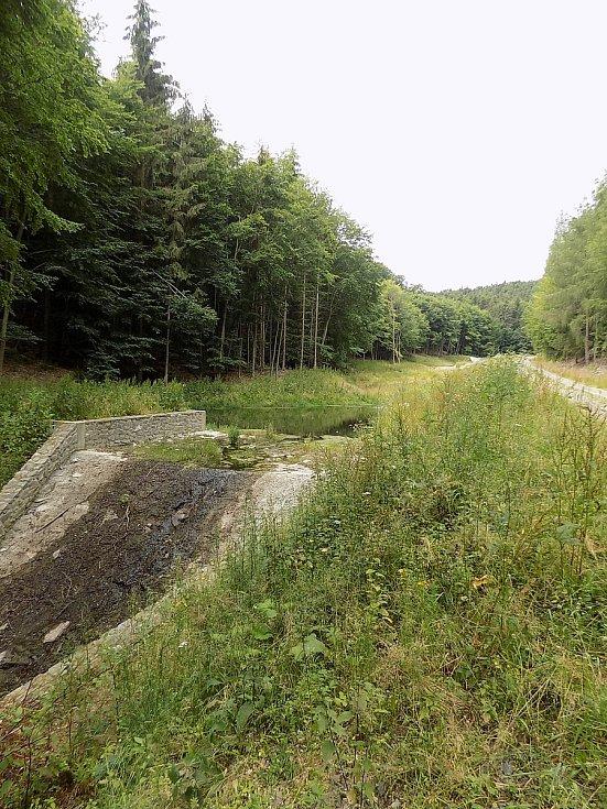 Vojenské lesy a statky se pustily do výstavby a obnovy rybníků. Na snímku kaskáda vodních tůní Studýnky.