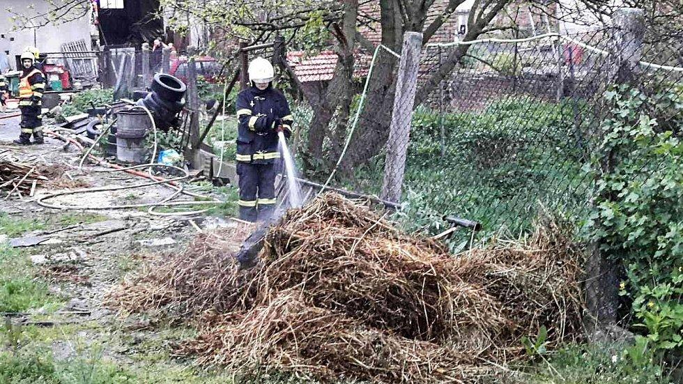 Hasiči likvidovali požár dílny v Křižanovicích u Vyškova.