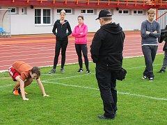 Co všechno obnáší práce policisty, zjistili lidé na workshopu na vyškovském stadionu za Smetanovými sady.