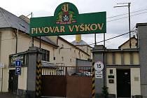 Uzavřený pivovar ve Vyškově.