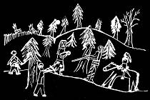 Staré pověsti z Drahanské vrchoviny ilustrovali žáci Základních škol Drnovice, Nemojany, Podomí a Mateřské školy Drnovice. Obrázek se vztahuje k příběhu Ve Zbitéch u Ježkovic.