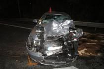 S vážnými zraněními skončili účastníci dopravní nehody na obchvatu u Slavkova po třetí hodině pondělního rána.