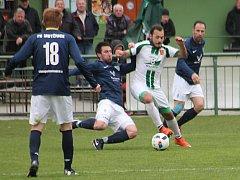 V utkání krajského přeboru fotbalistů prohrál Tatran Rousínov na domácím hřišti s FK Mutěnice 2:4.