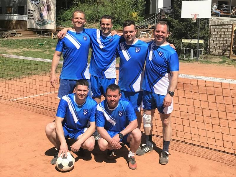 NK Luleč - zleva nahoře: Martin Müller, Radoslav Höfer, Petr Deutsch, Michal Dočkal. Dole: David Kroutilík, Petr Vlach.