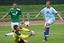 V předehrávaném utkání moravskoslezské fotbalové divize remizoval MFK Vyškov s Dostou Bystrc-Kníničky 0:0.