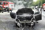 U Heršpic v úterý odpoledne shořelo osobní auto.