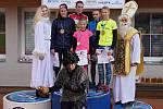 Patnáctý ročník Vyškovského Mikulášského běhu vyhráli  Irena Pospíšilová a Jakub Bárek.