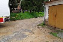 Následky silného pondělního deště na Bučovicku.