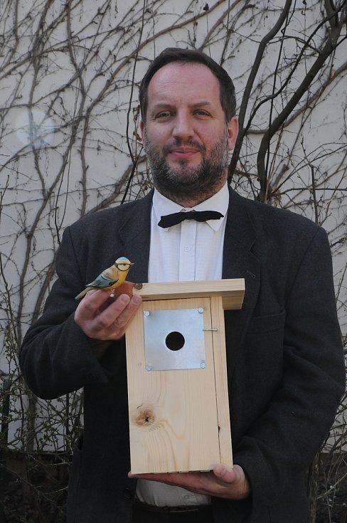 Instruktážní výklad o ptačích budkách v březnu 2019.