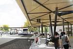 Vizualizace nové podoby vyškovského autobusového nádraží.