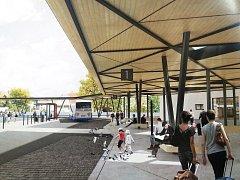 Ve Vyškově budou na autobusovém nádraží nově zastřešené ostrůvky i větší čekárna. Úprava má stát desítky milionů korun.