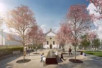 Budoucnost Koláčkova náměstí podle návrhu architektů. Vizualizace: Ateliér RAW