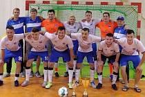 Futsalisté Amoru Kloboučky Vyškov, vítěz Krajského poháru SFČR.