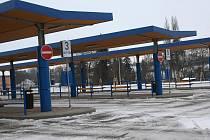 Rousínecké autobusové nádraží.