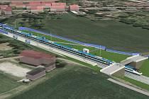 Modernizace tratě mezi Brnem a Přerovem se přiblížila. Jako první v Česku umožní vlakům projet i přes Vyškovsko dvoustovkou. Na snímku Chvalkovice.