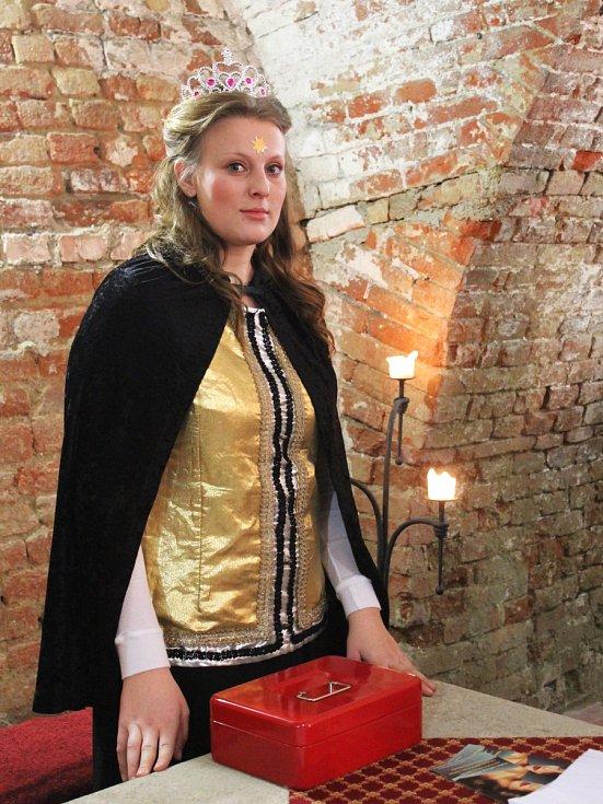 Komtesky, hraběnky i urození pánové dorazili v pátek večer do kasemat slavkovského zámku. Na první ročník tematicky laděného plesu Zámecká noc, jež měl i dobročinný podtext. Oživila ho také módní přehlídka společenských šatů.