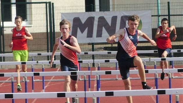 Mladí atleti AK AHA Vyškov ve druhém kole přeboru Jihomoravského kraje v Hodoníně.