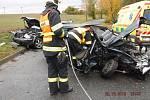 Žena přišla o život při dopravní nehodě dvou aut, která se stala ve čtvrtek odpoledne ve Vyškově na silnici spojující Purkyňovu ulici se sídlištěm Osvobození.