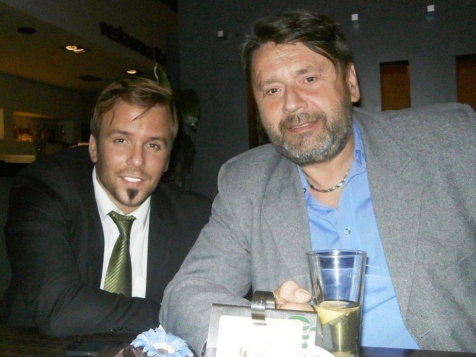 Šéf bučovické kultury Josef Brychta (vpravo) s Josefem Boudou.