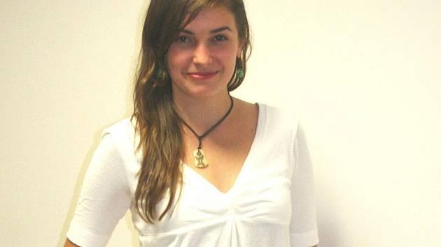 Mladá studentka herectví z Vyškova Sarah Haváčová.