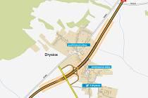 V únoru chce Ředitelství silnic a dálnic vybrat firmu na rekonstrukci mimoúrovňové křižovatky Drysice.